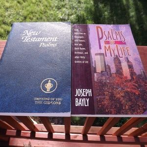 Two Psalms books,Psalms of My Life & New Testament
